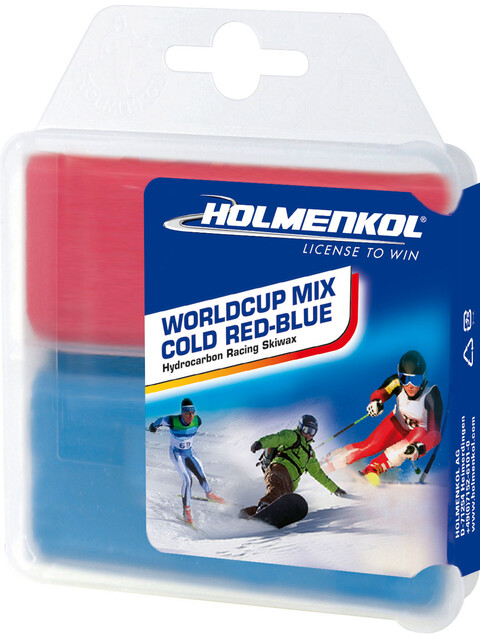 Holmenkol Worldcup Mix Cold Base Wax 2x35g Red-Blue